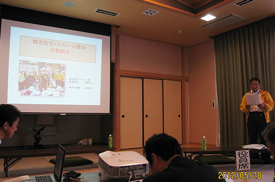 総務委員会視察(丸亀市内城北防犯パトロール隊の活動視察)