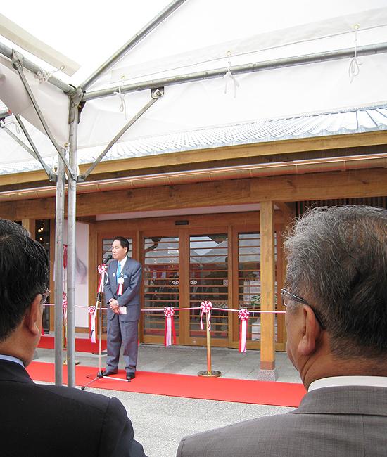 栗林公園内のかがわ物産館「栗林庵」の開所式に出席