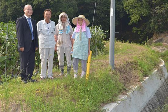 水害対策で河川堤防をかさ上げ(高松市西植田町)